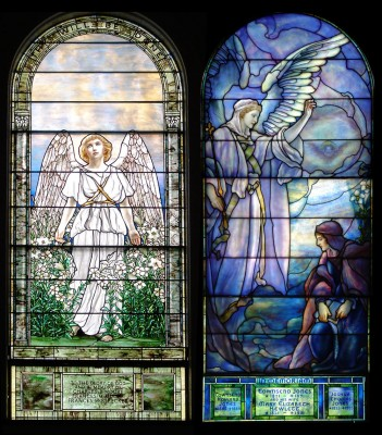 Angel of the Resurrection and The Annunciation: full image of both pieces